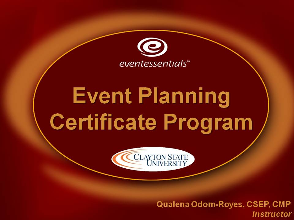 Fall  Event Planning Certificate Class  Registration Open